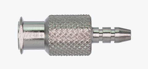 "A1231 Female Luer (5/16"" round body, knurled), 0.125"" O.D."